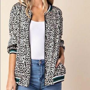 Kori Reason to Slay Leopard Print Bomber Jacket Sm